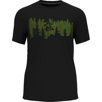 M F-Dry Print T-Shirt s/s cn