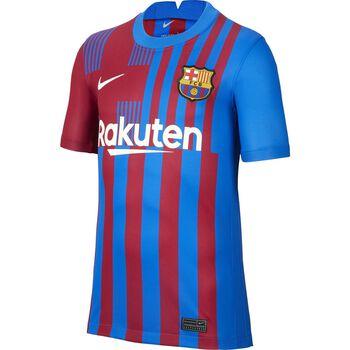 JR FC Barcelona 2021/22 Stadium Home Big Kids Soccer Jersey